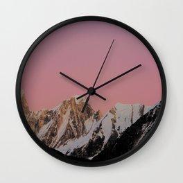 Sunset Peak Wall Clock