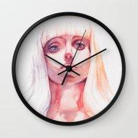 artpop Wall Clocks featuring ARTPOP by Maria Bruggeman