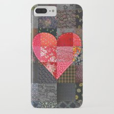 Patched Heart iPhone 7 Plus Slim Case