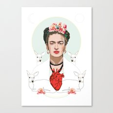 Frida Kahlo (Light) Canvas Print