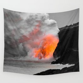 Lava Meets Ocean Wall Tapestry