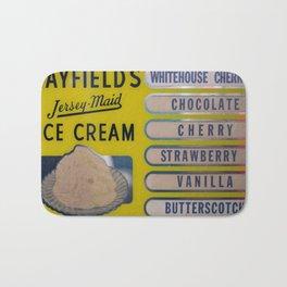Vintage Ice Cream Sign 1 Bath Mat