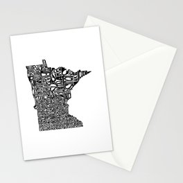 Typographic Minnesota Stationery Cards