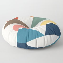 Cat Landscape 26 Floor Pillow