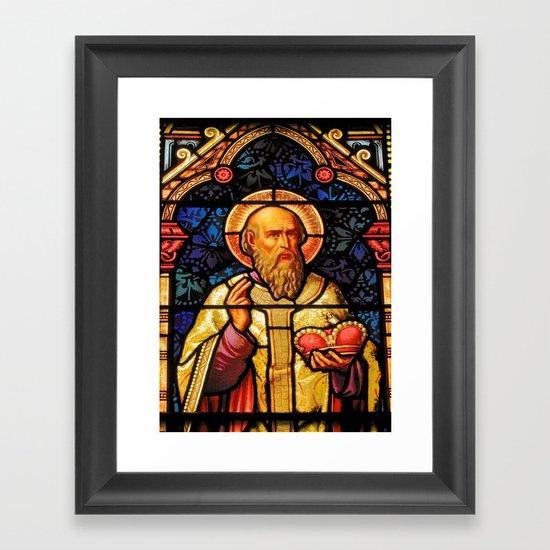 Saintly Glass #2 Framed Art Print