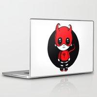 devil Laptop & iPad Skins featuring Devil by Chrystal Elizabeth
