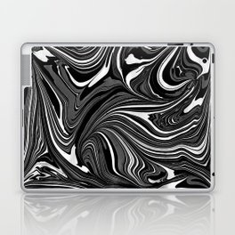 Black White Grey Marble Laptop & iPad Skin