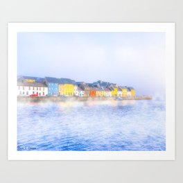 Misty Morning On The Shores Of Galway Ireland Art Print
