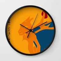 charizard Wall Clocks featuring 006 Charizard by AuroraDrops