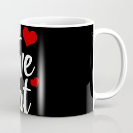 I Love Eat Coffee Mug