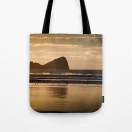 Rhossili beach and Worms Head Tote Bag