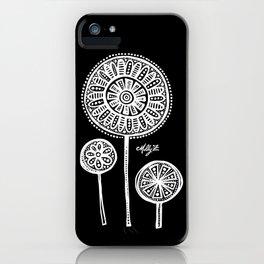 White Flower 136 iPhone Case