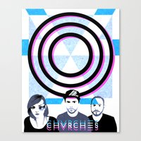 chvrches Canvas Prints featuring Chvrches by Andrea Solenghi