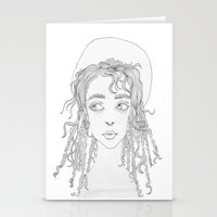 fka twigs Stationery Cards featuring FKA by Kim Ly