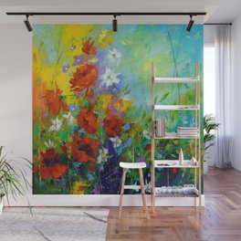 Rhythm of summer flowers Wall Mural