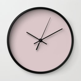 Light Pastel Pink Solid Color Parable to Jolie Paints Rose Quartz Wall Clock