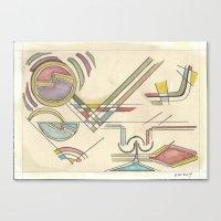 kandinsky Canvas Prints featuring In the Key of Kandinsky (2014) by Eli Dorman