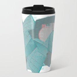 Sydney Opera House; Pixel Glitch Metal Travel Mug