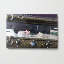 Surrea in her glass casket Metal Print