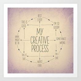 My Creative Process Art Print