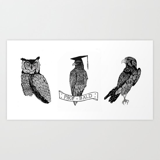 The Feathered Trio Art Print