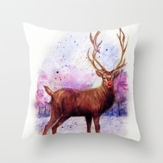 .Rudolph Throw Pillow
