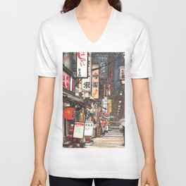 Lights in the Snow Unisex V-Neck