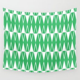 Mid Century Modern Diamond Pattern Green 234 Wall Tapestry