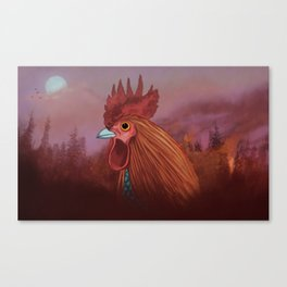 Fire rooster Canvas Print
