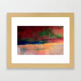sunset/soft light/abstract/nature/sea Framed Art Print