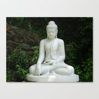 buddah Canvas Prints featuring buddah by Angel Photography NYC (Nicole Coletti)