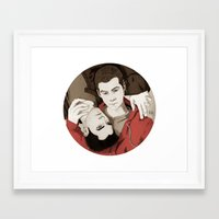 teen wolf Framed Art Prints featuring Teen Wolf by suis0u