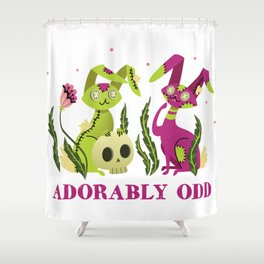 Adorably Odd V.2 Shower Curtain