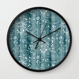Zenny Stripe, Blue Spruce Wall Clock