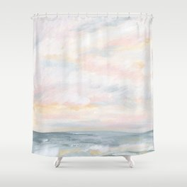 You Are My Sunshine - Gray Pastel Ocean Seascape Shower Curtain