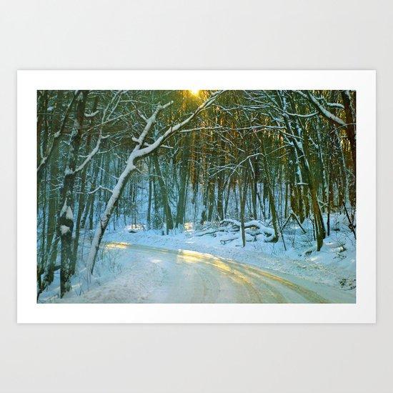 Winter Sun Art Print