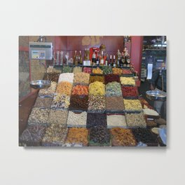 Dried Fruits for Sale in Barcelona Metal Print