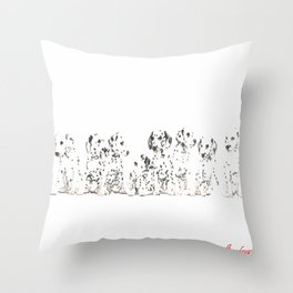Cachorros de dálmata  ( Dalmatian puppies ) Throw Pillow