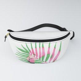 Pink Flamingo Palm Leaf Fanny Pack