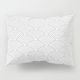 Japanese Waves (Gray & White Pattern) Pillow Sham