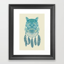Midnight Dream Catcher Framed Art Print