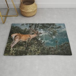 The Mountain Deer - Landscape and Nature Photography Rug