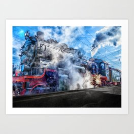 Steam Locomotive (Train) Art Print