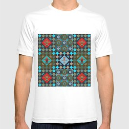 Indian patchwork 16 T-shirt