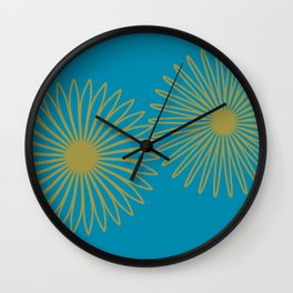 Teal and Copper Wall Clock