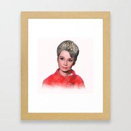 Audrey Hepburn - Charade - Watercolor #1 Framed Art Print