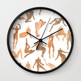 Nymphs in the nude Wall Clock