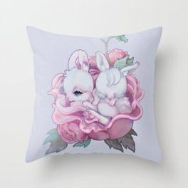 BloomBBBuns Throw Pillow