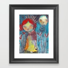 Listen To The Stars Framed Art Print