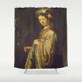 "Rembrandt Harmenszoon van Rijn, ""Saskia as Flora"", 1635 Shower Curtain"